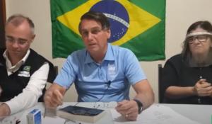 Jair Bolsonaro em live realidade em sua rede social.